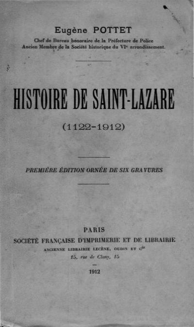 histoire de saint lazare saint lazare as a women 39 s prison 1794. Black Bedroom Furniture Sets. Home Design Ideas