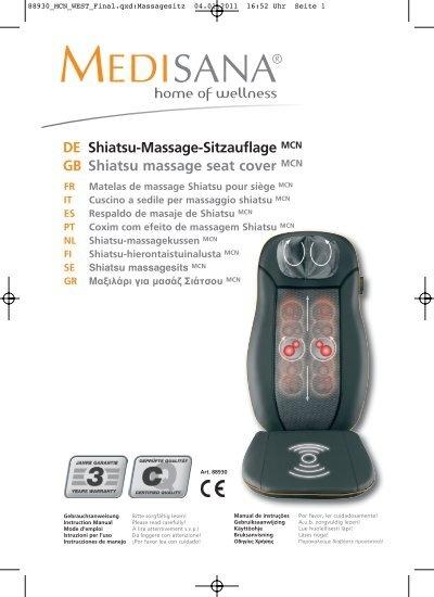De Shiatsu Massage Sitzauflage Gb Shiatsu Massage Seat Cover