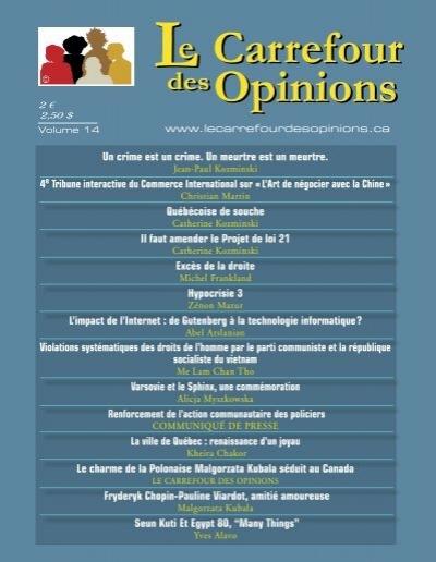Le Carrefour Des Opinions Volume 14