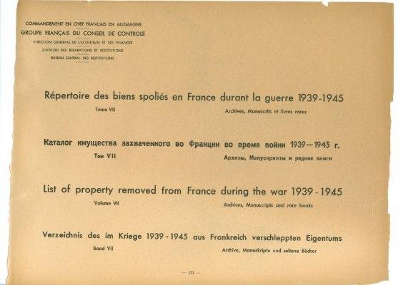 tome VII Archives, manuscrits et livres rares Ministère de