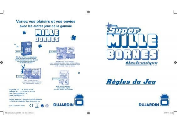Super mille bornes lectronique jeux dujardin for Dujardin sas