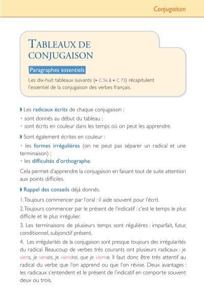 Les Determinants Du Tableaux De Conjugaison