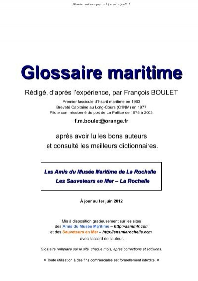 Association musée des maritime du amis Glossaire maritime YeIbE9D2WH