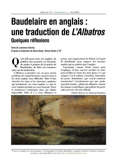 Baudelaire En Anglais Une Traduction De Lalbatros