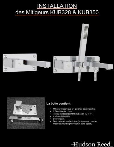 guide d 39 installation kub328 kub350 hudson reed. Black Bedroom Furniture Sets. Home Design Ideas