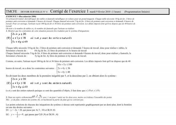 Tmcfe devoir surveille n 4 corrig de l 39 exercice 1 mardi - Exercice corrige de table de karnaugh pdf ...