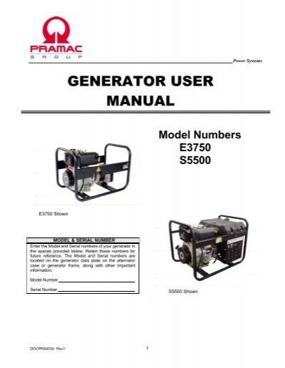 Generator User Manual