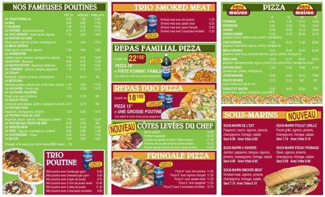 le menu de livraison restaurant chez g rard