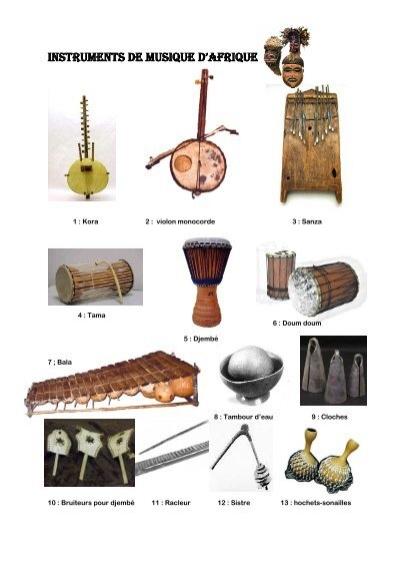 INSTRUMENTS DE MUSIQUE DAFRIQUE ~ Instrument En Bois Africain