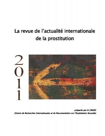 Revue 2011 de l'actualité internationale de la prostitution