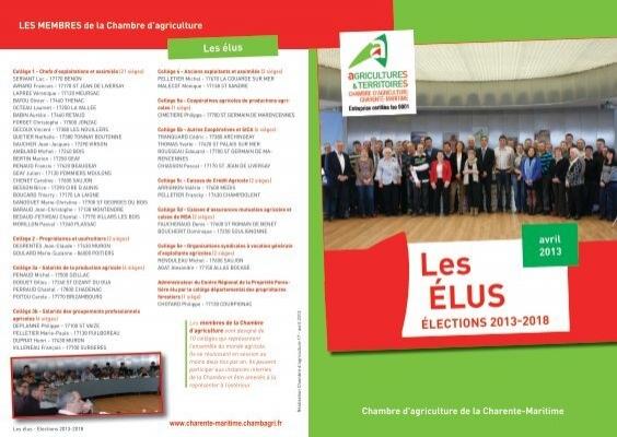 Les éLus   La Chambre Du0027Agriculture De Charente Maritime.