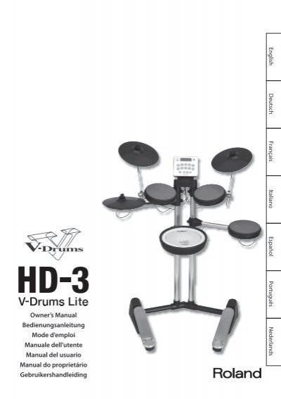 Roland hd-3 manual