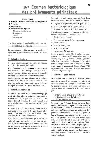 16• Examen bactériologique des prélèvements ... - BACTERIOWEB