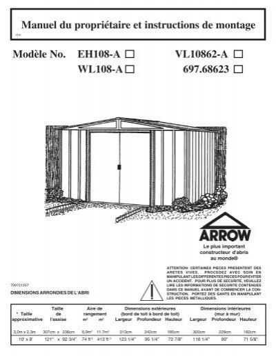 notice de montage id247 france abris. Black Bedroom Furniture Sets. Home Design Ideas