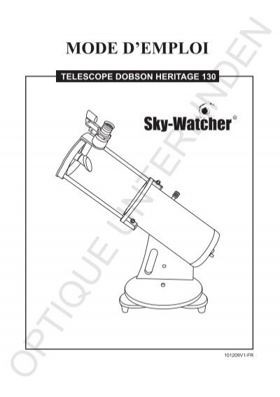 mode d 39 emploi sky watcher telescope. Black Bedroom Furniture Sets. Home Design Ideas