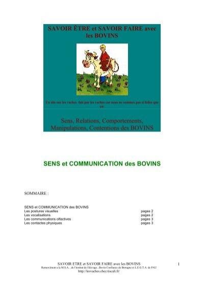 sens et communication des bovins