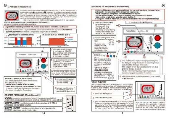 Uk intellitherm c55 displ for Cronotermostato fantini cosmi intelli therm c31