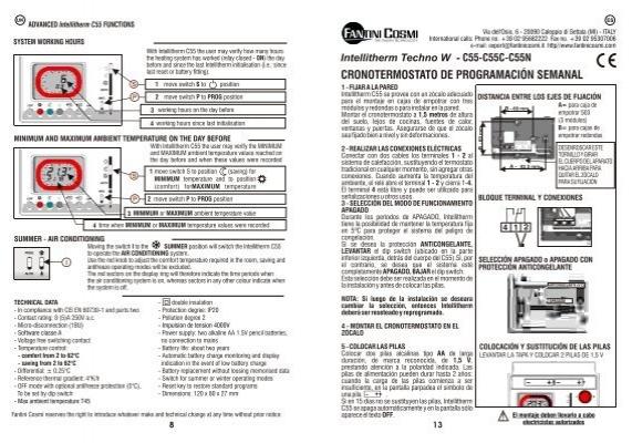 Uk advanced intellitherm for Fantini cosmi c55