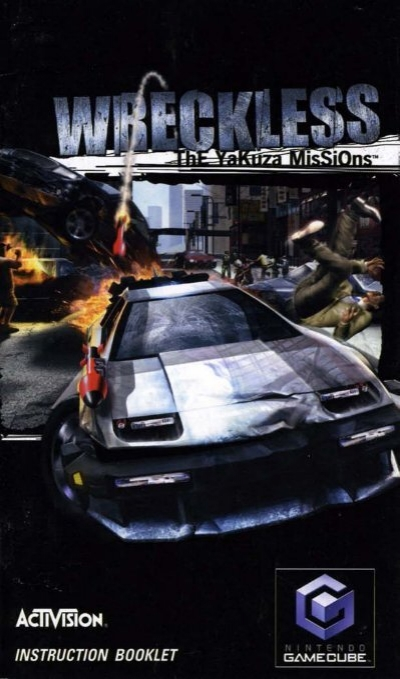 Wreckless The Yakuza Missions Nintendo Gamecube Manual