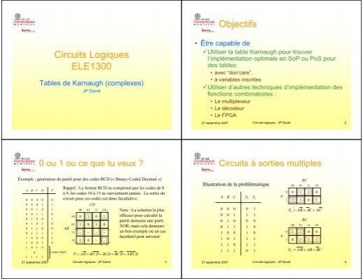 Circuits logiques ele1300 objectifs for Circuit logique pdf