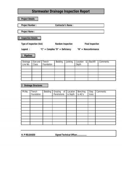 Inspection Quality Control Agent Nina Agdal: APPENDIX F Quality Control Inspection Report Sheets
