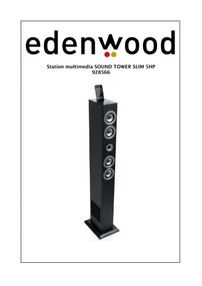 station multimedia sound tower slim 5hp 928566 electro depot. Black Bedroom Furniture Sets. Home Design Ideas