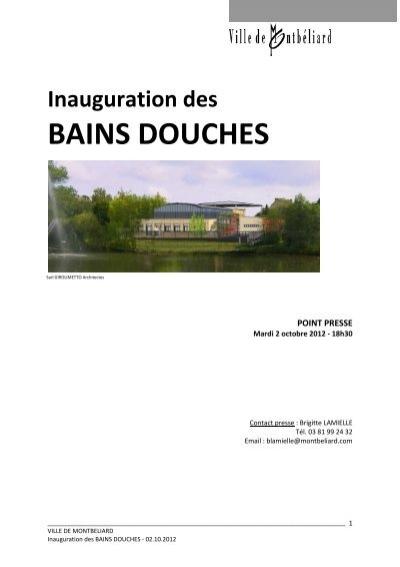Inauguration des bains douches montb liard - Bains douche montbeliard ...