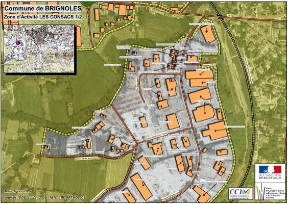 Le plan de la zone industrielle des consacs pdf for Carrelage sanitaire brignolais