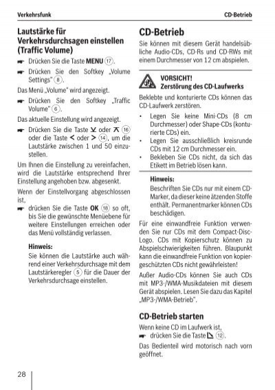 Verkehrsfunk Cd Betrieb L