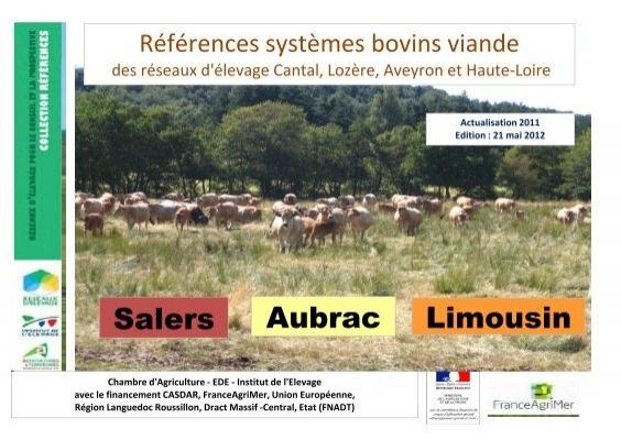 Salers aubrac limousin chambre d 39 agriculture du cantal - Chambre d agriculture du cantal ...