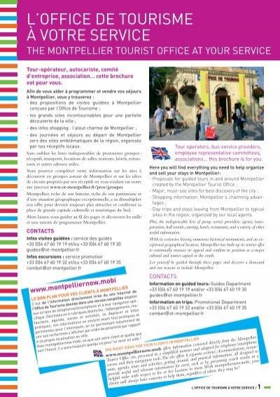 Conditions g n rales de - Office de tourisme montpellier recrutement ...