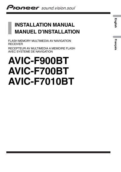avic f900bt avic f700bt avic f7010bt pioneer rh yumpu com pioneer avic-f700bt operation manual pioneer avic-f700bt service manual