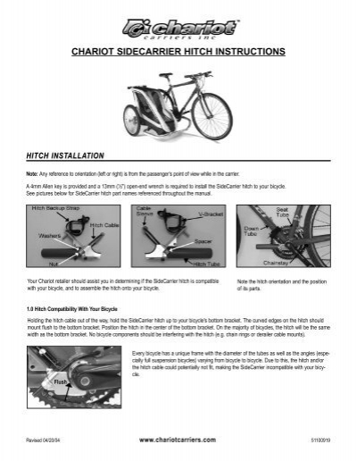 chariot sidecarrier hitch instructions rh yumpu com Quick Reference Guide Quick Reference Guide
