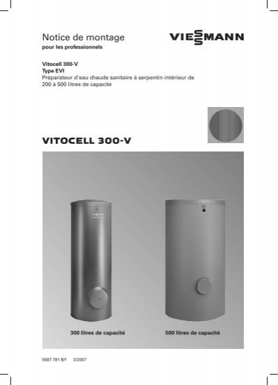 vitocell 300 v notice de montage. Black Bedroom Furniture Sets. Home Design Ideas