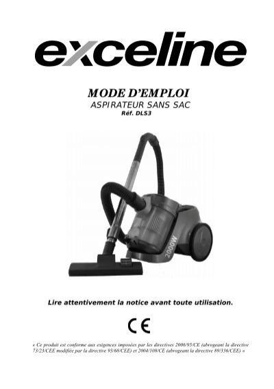 mode d 39 emploi aspirateur sans sac electro depot. Black Bedroom Furniture Sets. Home Design Ideas