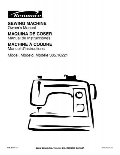 Sewing Machine Maquina De Coser Machine à Coudre Fichier PDF Stunning Sears Ca Sewing Machines