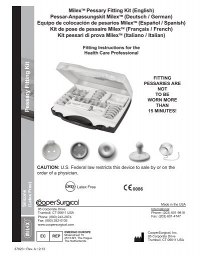 Milextm Pessary Fitting Kit Coopersurgical