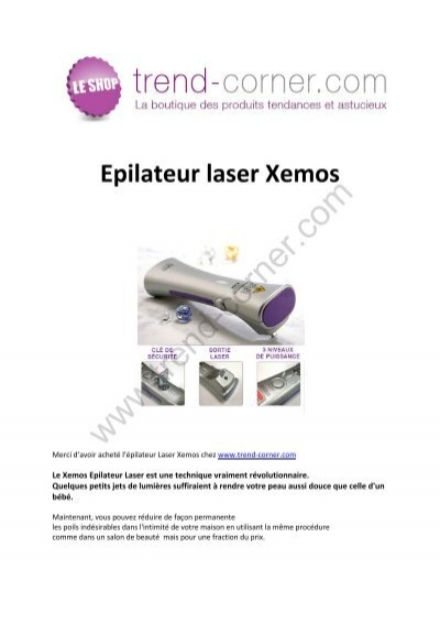 epilateur laser xemos trend corner. Black Bedroom Furniture Sets. Home Design Ideas