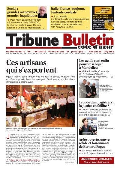 Actualita C Ces Artisans Qui S Exportent Tribune Bulletin Ca Te D Azur