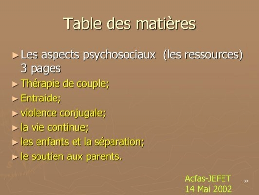 Table des mati res le - Table des pensions alimentaires ...