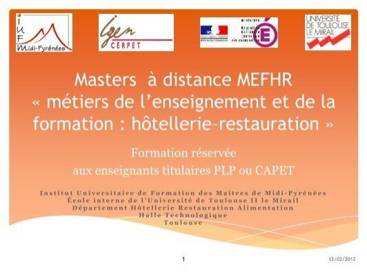formation a distance hotellerie restauration