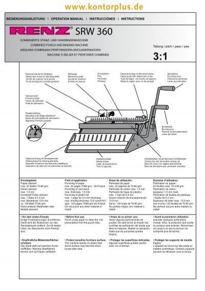 renz binding machine instructions