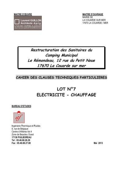 Cctp lot 7 electricit la couarde - Cctp electricite logement collectif ...