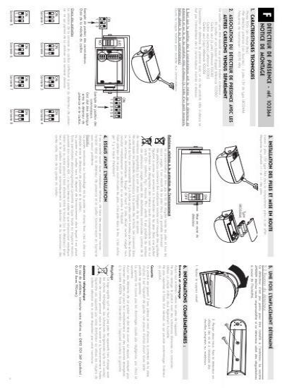 D tecteur de pr sence r f notice de monta g e avidsen for Manual avidsen espanol 114452