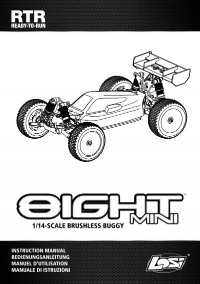 Horizon Hobby LOSI 8ight-T RTR Instruction Manual 29 Pages