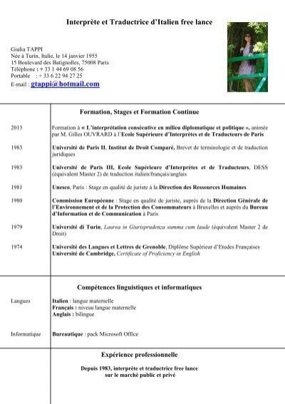 cv fran u00c3 u00a7ais pdf