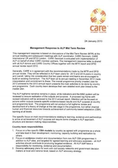 alp management response letter to mid term care danmark