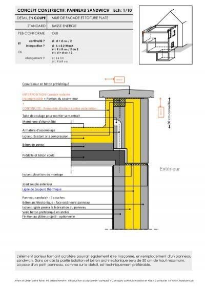 mur de facade et toiture plate febelcem. Black Bedroom Furniture Sets. Home Design Ideas