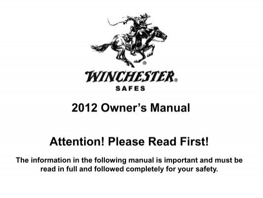 2012 Owner S Manual Attention Please Read First