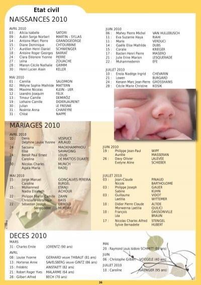 Etat civil naissances 201 - Mairie de guilherand granges etat civil ...